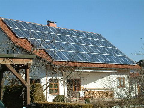 Haus mit Solardach