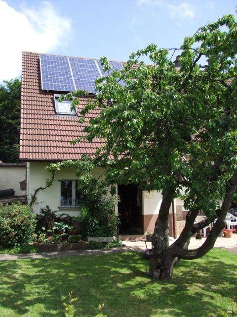 Haus, Baum, Solardach