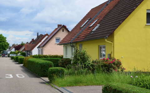 Wohnstraße, Häuser