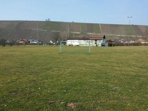 Der Zeltplatz mit Blick auf das Vereinsheim