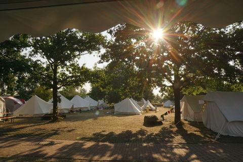 Der Zeltplatz am Morgen