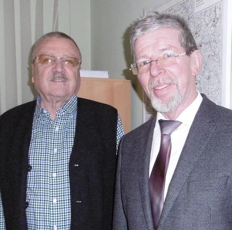Prof.Dr. Gramlich(re.) im Gespräch mit Präsidenten Schauer