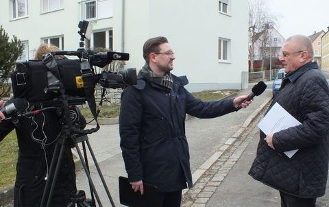 Redakteur Bastian gottswinter im Gespräch mit Präsident Schauer