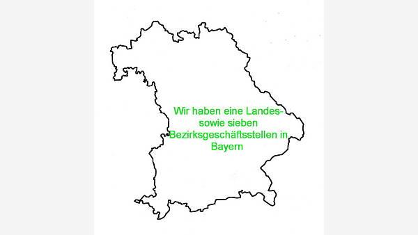 Themenbild: Bayern im Umriß
