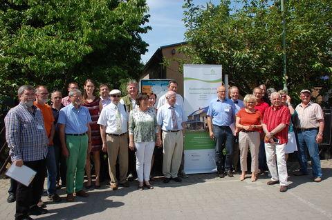Die Mitglieder der Bundes-Bewertungskommission, vom LV-Vorstand und Vertreter der Sgm. Am Zwickauer Damm