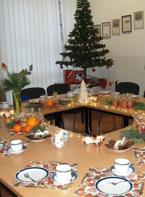 Die festliche Weihnachtstafel