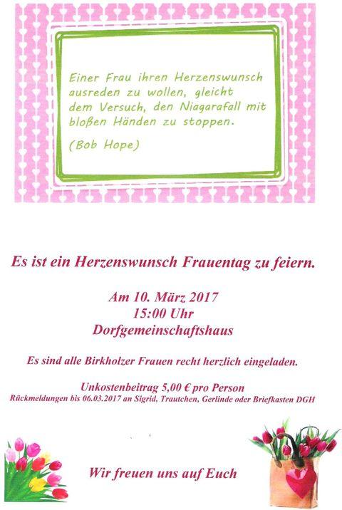 Einladung Frauentag 2017