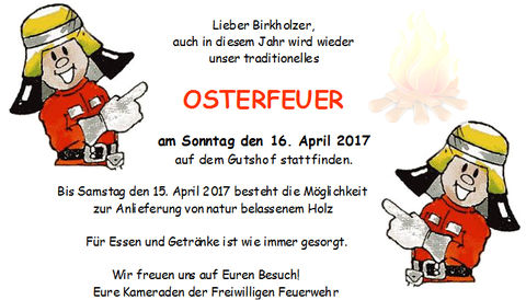 Unser Osterfeuer 2017