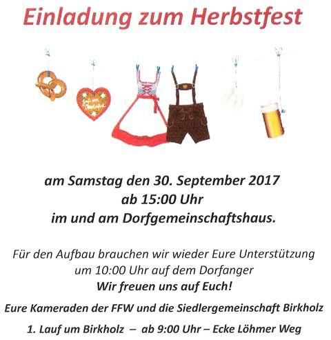 Herbstfest in Birkholz