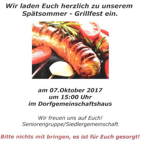 Grillfest in Birkholz