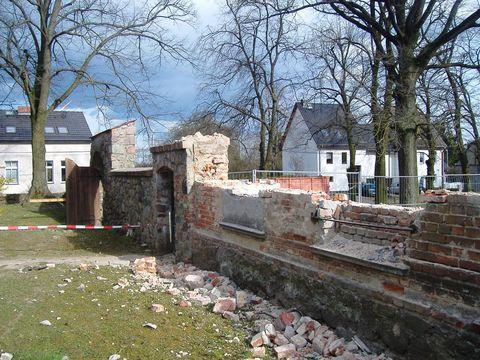 Südliche Friedhofsmauer Birkholz