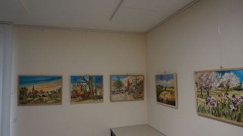 Ausstellung Gemälde von Karl Heinz Eschen