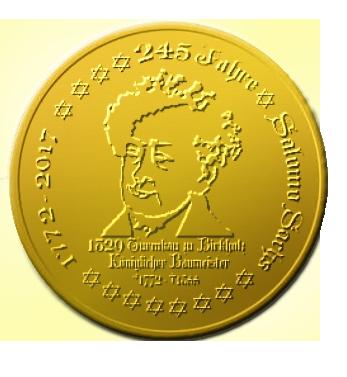 245 Jahre Salomo Sachs (Gedenkmünzenentwurf)