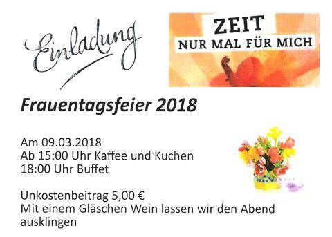 Einladung zur Frauentagsfeier 2018