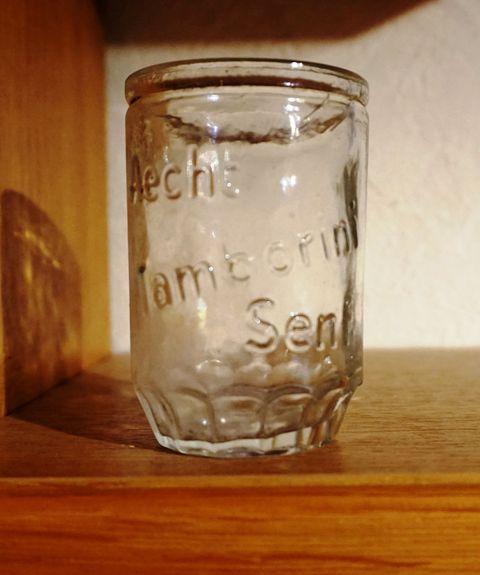 Aecht Tamborini Senf Glas