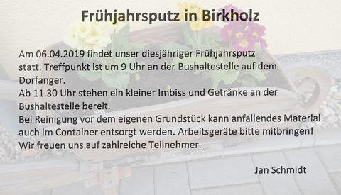 Frühjahrsputz in Birkholz