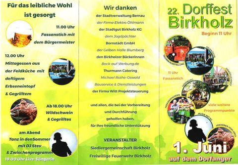 22. Dorffest