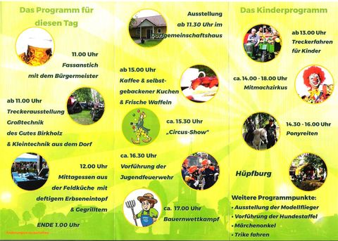 Programm 22. Dorffest