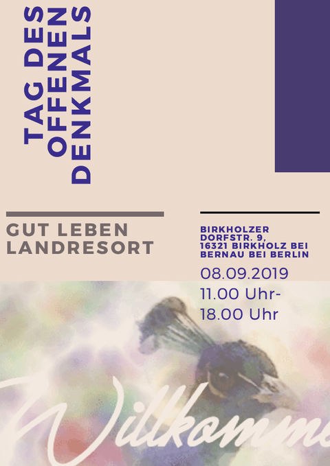 Einladung zum Tag des offenen Denkmals 2019