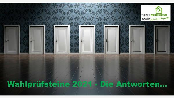 Themenbild: Wahlprüfsteine 2021 - Die Antworten...