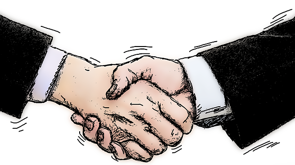 Themenbild: Zwei Hände werden geschüttelt