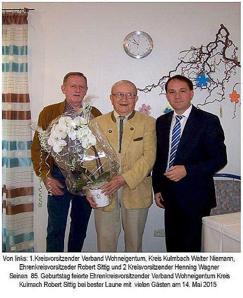 85. Geburtstag Robert Sittig