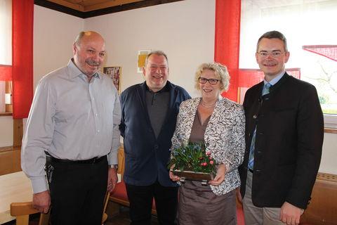 von links: Volker Bopp, Franz Lohner, Roswitha Kastner, Peter Tomaschko MdL
