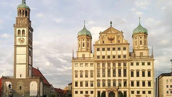 Themenbild: Augsburger Rathaus und Perlachturm