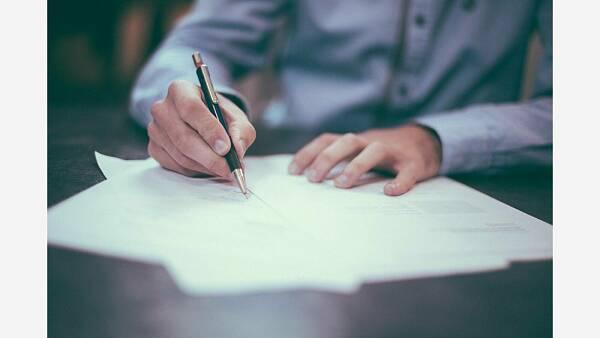 Themenbild: Beitrittserklärung Unterschrift Verband Wohneigentum Bezirksverband Unterfranken