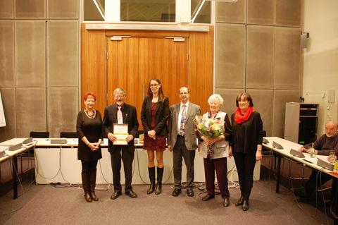 Siegerehrung in Berlin mit Anja Schillhaneck