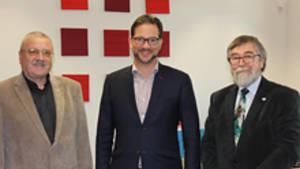 Siegmund Schauer und Manfred Jost beim PST Pronold