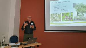 Martin Breidbach beim Vortrag