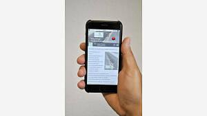 Smartphone mit Strabs App