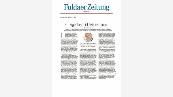 Themenbild: Beitrag Fuldaer Zeitung