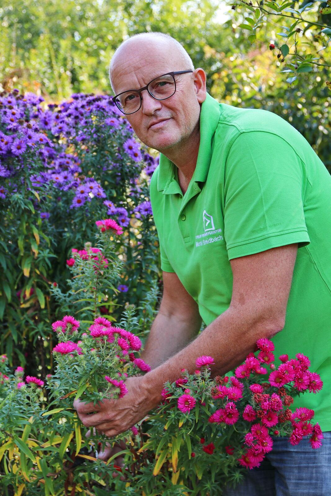 Martin Breidbach im heimischen Garten