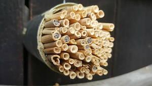 Nisthilfen aus Bambus und Schilfrohr