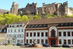 Karlsplatz und Schloss Heidelberg