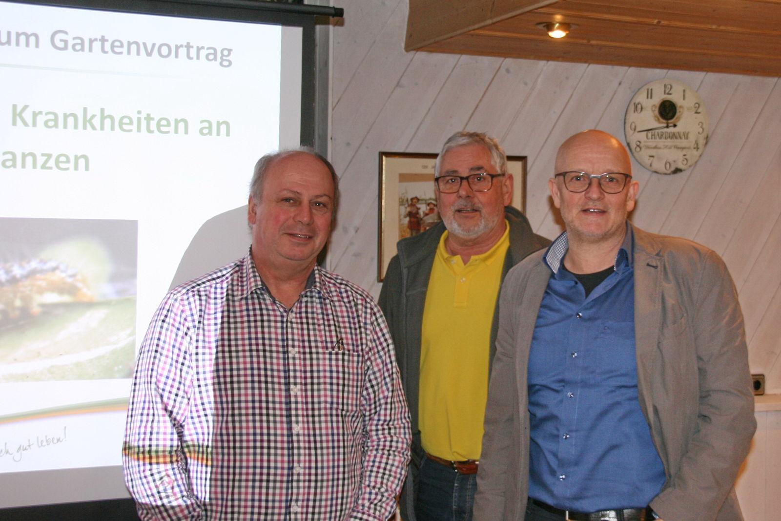 Waldemar Kempf und Werner Rink zusammen mit Martin Breidbach