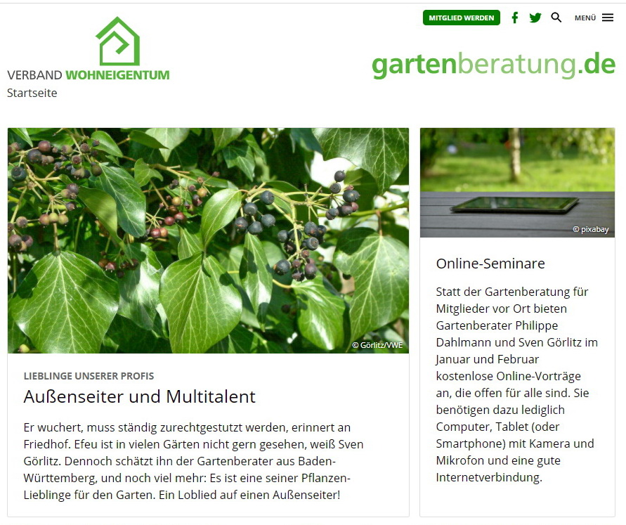 Website der Gartenberater