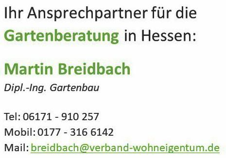 Die Gartenberatung in Hessen