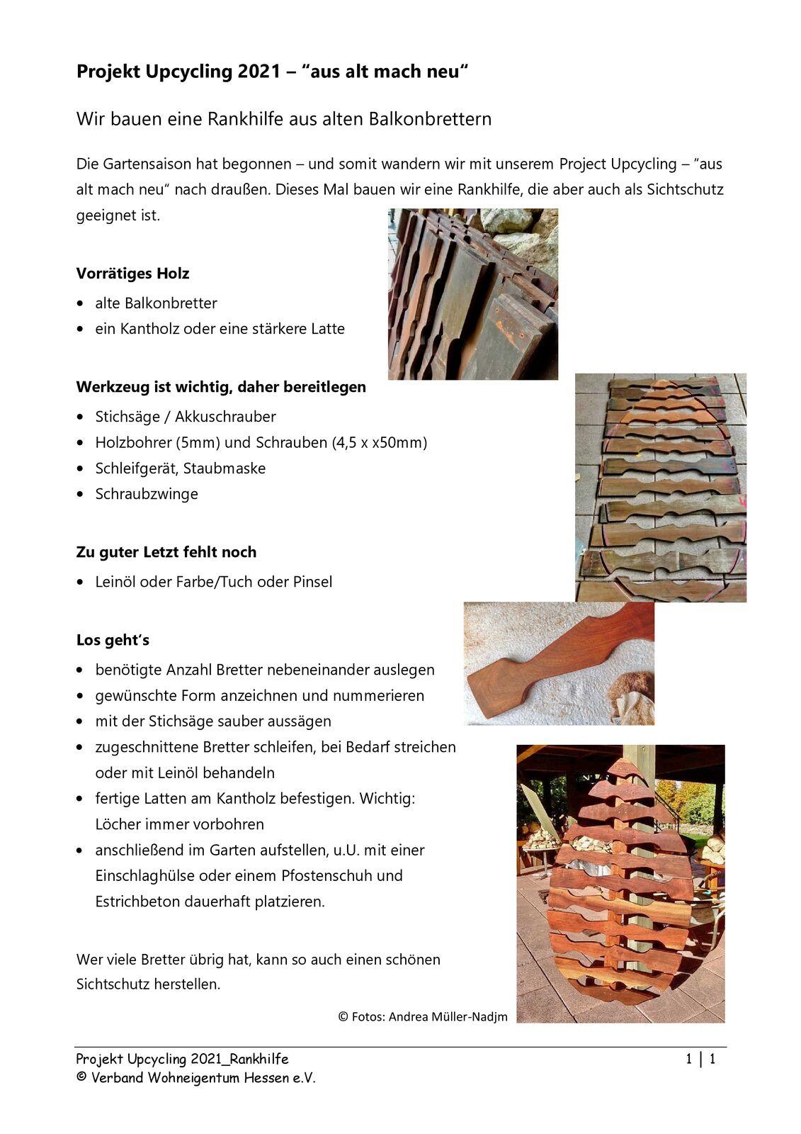 Anleitung für den Bau einer Rankhilfe