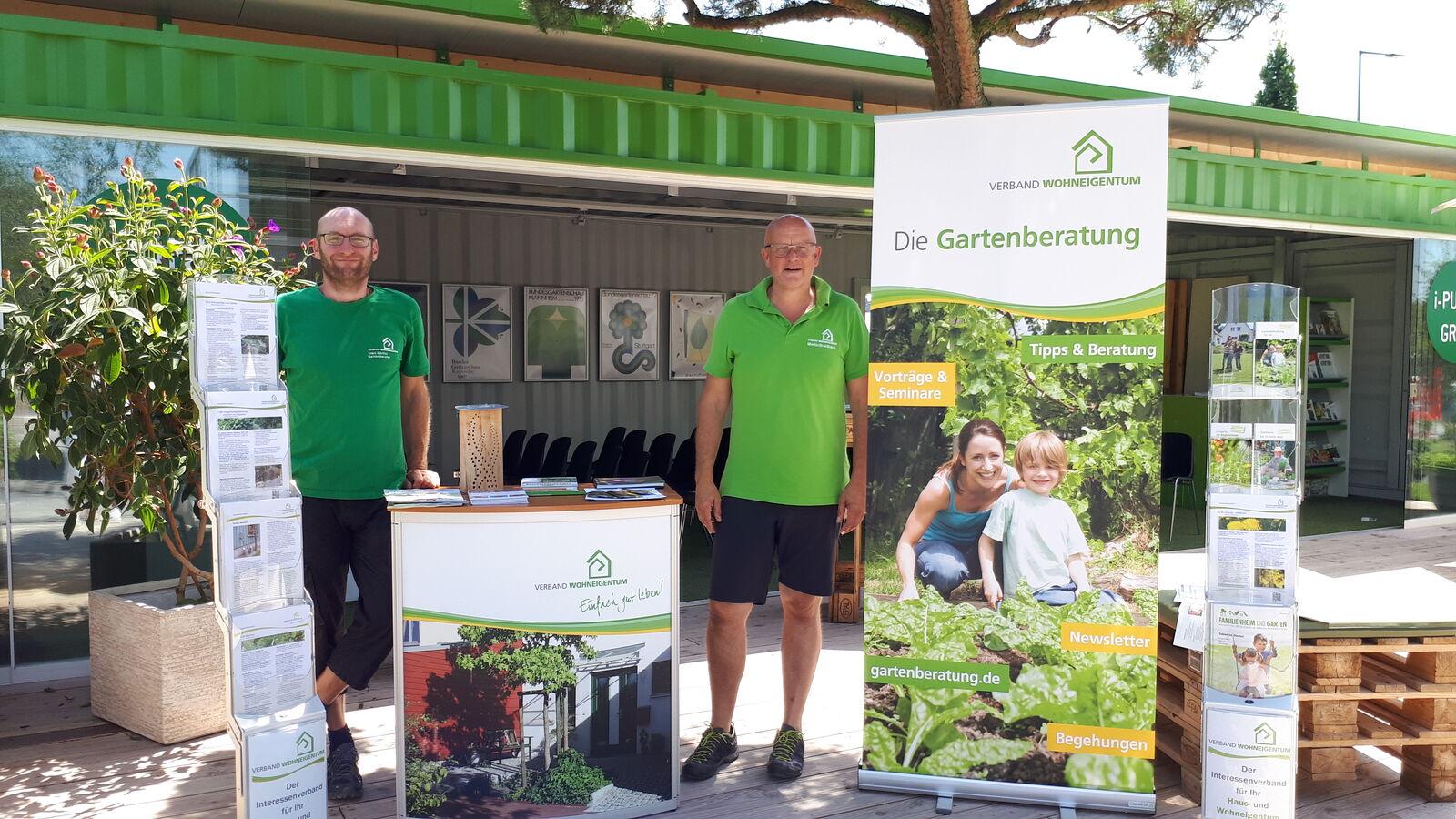 Martin Breidbach und Sven Görlitz auf der Buga in Heilbronn 2019