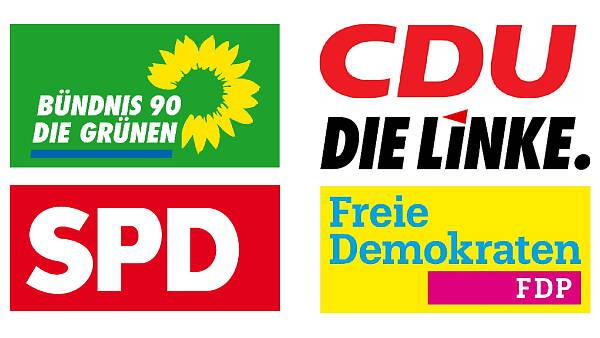 Themenbild: Logos der Parteien