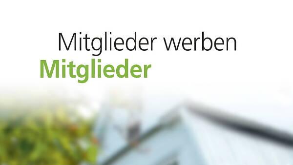 Themenbild: Folder Mitglieder werben Mitglieder