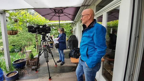 Themenbild: ZDF-Team bei Dreh