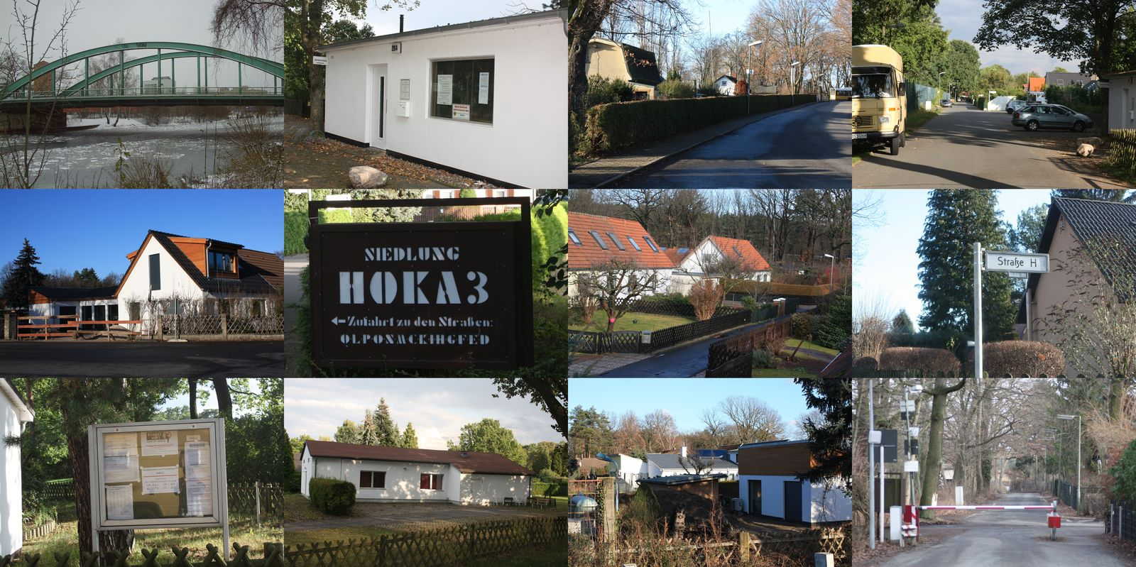 Collageb von Ansichten aus der Hoka 3