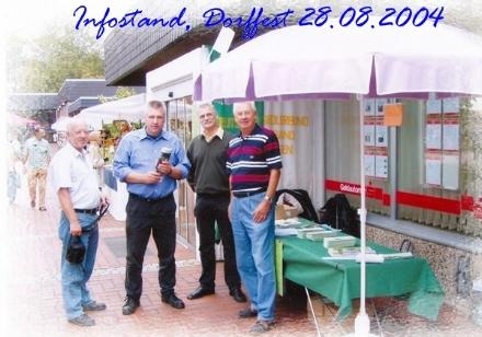 Infostand, Dorffest 28.08.2004