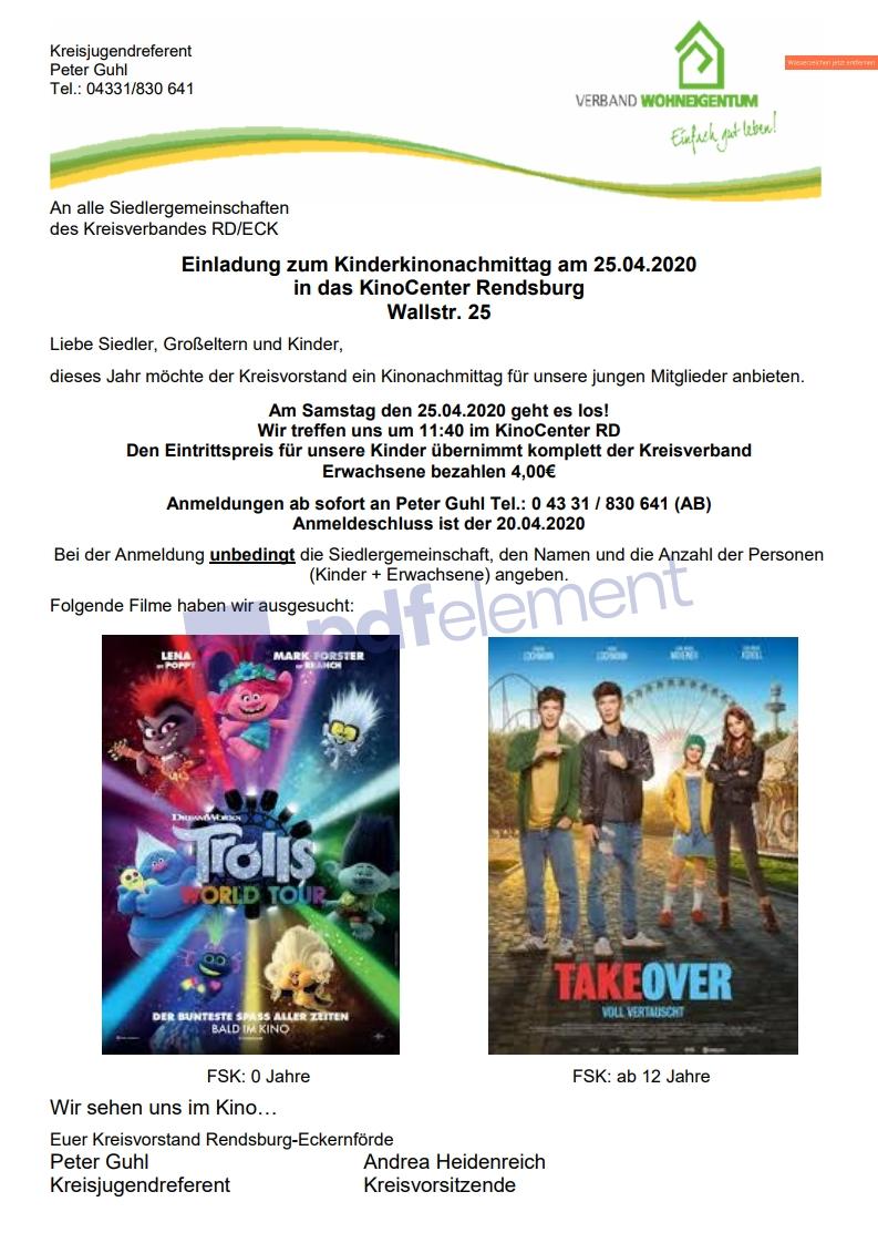 Kino im April 2020