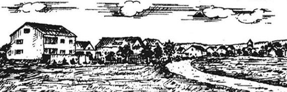 Blick auf den Ort Oberwildenau von Richtung Neudorf