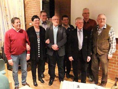 Vorstand am Abend der JHV 2014